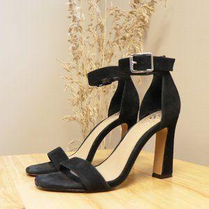 Vince Camuto Black Adjustable Strappy High Heels